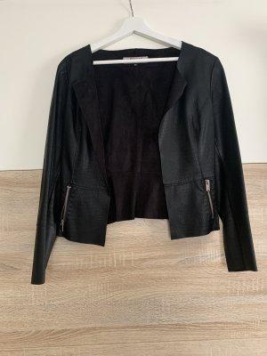 Only Blazer de cuero negro