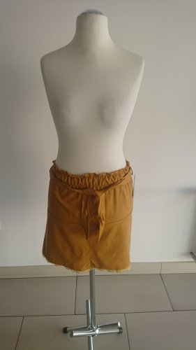 Made in Italy Faux Leather Skirt light orange