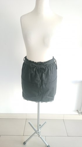 Made in Italy Faux Leather Skirt black