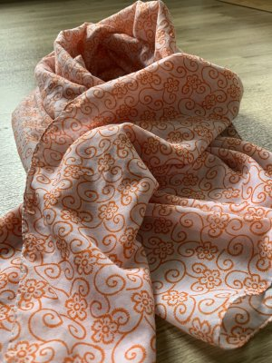 appetizer Summer Scarf natural white-orange