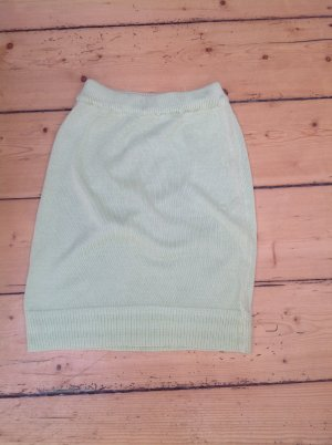 Knitted Skirt pale green cotton
