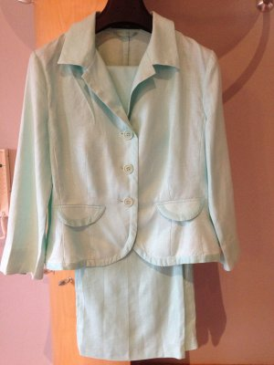 s.Oliver WOMEN Tailleur-pantalon turquoise lin