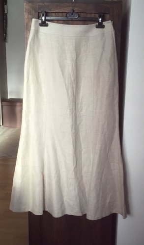 Falda de lino beige claro