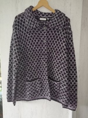 Canda Knitted Blazer black-dark violet