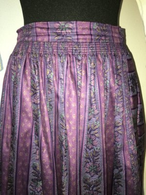 Jupe bavaroise violet foncé-gris violet