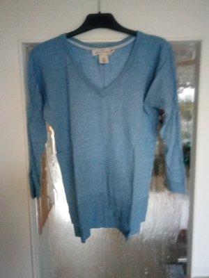 Schöner luftiger 3/4-Arm Pullover in hellblau