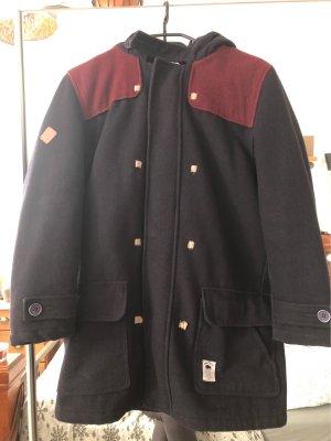 Bellfield Cappotto con cappuccio blu scuro-bordeaux