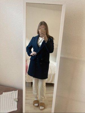 Zara Oversized jas donkerblauw-blauw