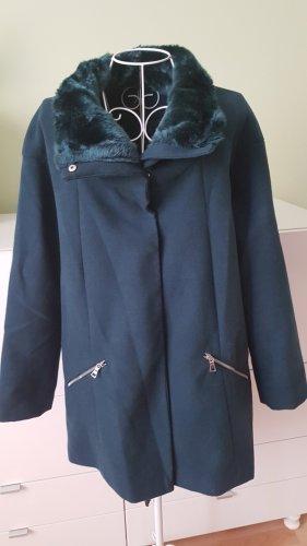Schöner Mantel in Dunkelgrün/Blau Gr. 38