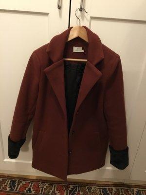 Kaffe Krótki płaszcz rudy-czarny