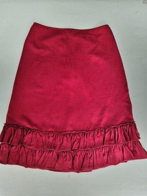 Marni Jupe en soie rouge foncé soie