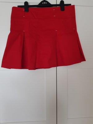 Fishbone Maxi rok wit-rood