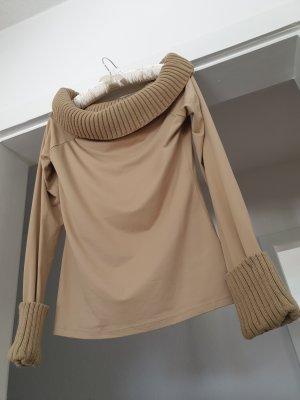 Camaieu Koszula typu carmen beżowy-camel