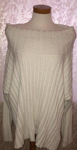 H&M Szydełkowany sweter w kolorze białej wełny