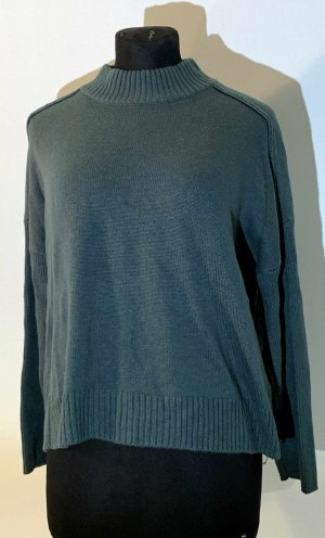 America Today Oversized Sweater forest green viscose