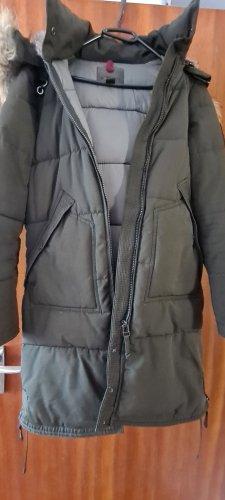 Amisu Kurtka zimowa jasnobeżowy Tkanina z mieszanych włókien
