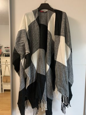 Tom Tailor Denim Cape noir-blanc