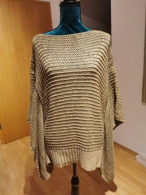 Zara Knit Poncho en tricot chameau