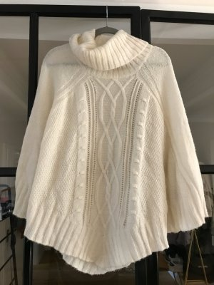 H&M Knitted Poncho natural white