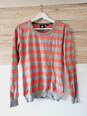 Fenchurch Crewneck Sweater light grey-salmon