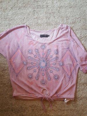 Bodyflirt Sweter z krótkim rękawem w kolorze różowego złota