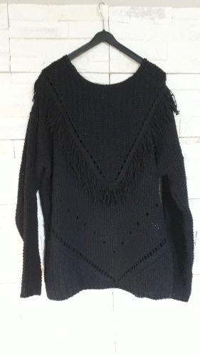 H&M Grof gebreide trui zwart