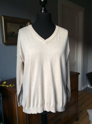 V-Neck Sweater oatmeal mixture fibre