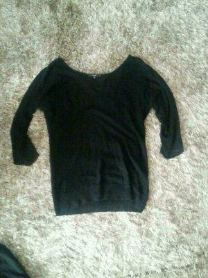 Schöner Pullover aus Viskose und Seide von Zero Schwarz Gr.34