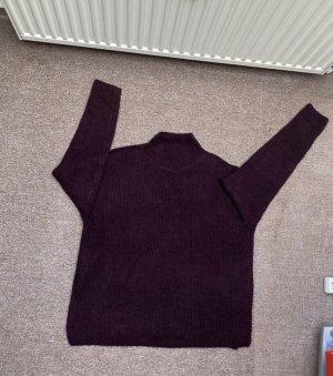 ATMOSPHÄRE Wełniany sweter brązowo-fioletowy