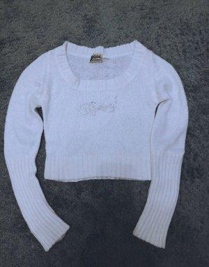 4YOU Sweter z okrągłym dekoltem biały
