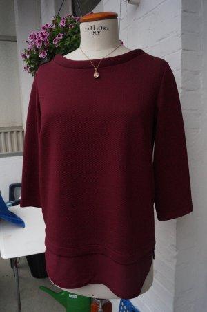 s.Oliver Black Label Sweater Twin Set bordeaux