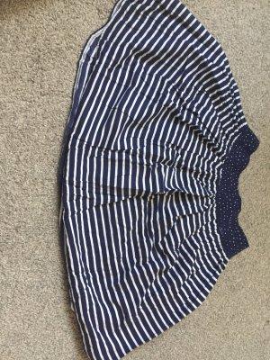 H&M Balonowa spódniczka biały-ciemnoniebieski
