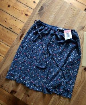 Blue Motion Spódnica midi stalowy niebieski-różowy