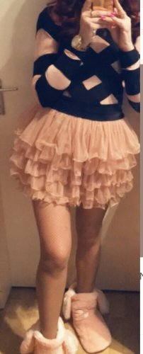 100% Fashion Tulle Skirt apricot