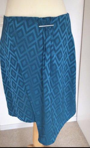Mango Suit Pleated Skirt black-turquoise