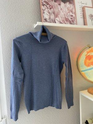 Koszulka z golfem błękitny-stalowy niebieski