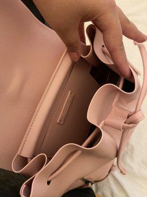 Zara Bolsa de hombro rosa