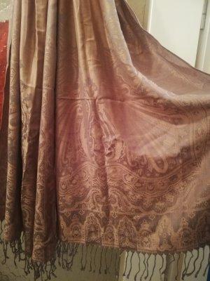 Schöner rose goldener Schal aus Baumwolle mit Ornament Details