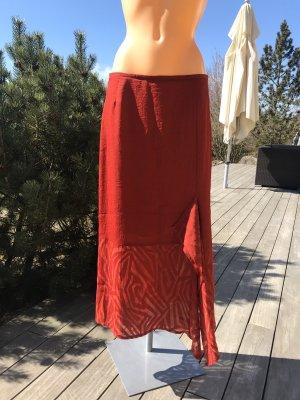 Ella Maxi Skirt dark red-red mixture fibre