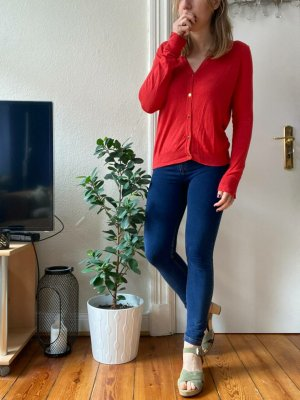 Manguun Fine Knit Jumper brick red-red