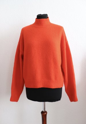 Schöner roter Pullover von H&M Größe S 36 38 mit Wolle