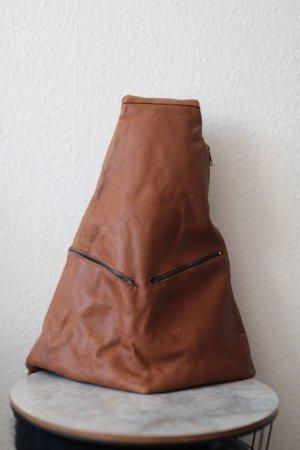 Schöner Rucksack Vintage echtes leder