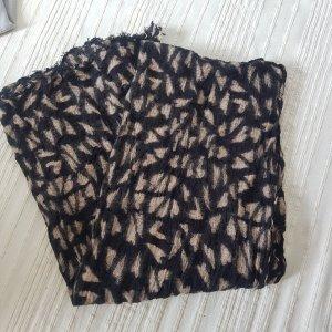 Beck Söndergaard Sjaal met franjes zwart-licht beige