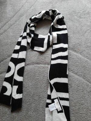 Rich & Royal Bufanda de lana blanco-negro