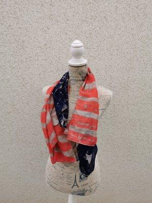 New Yorker Bufanda tubo rojo-azul