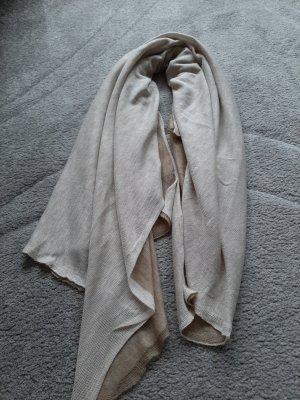 Komin zawijany w kolorze białej wełny-beżowy