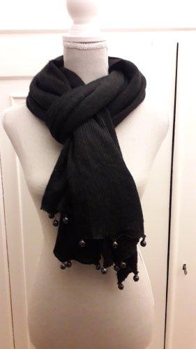 italienische Mode Écharpe en tricot noir