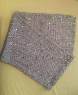 Tchibo / TCM Bufanda de lana color plata