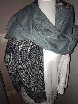 Cartoon Wollen sjaal lichtgrijs-khaki