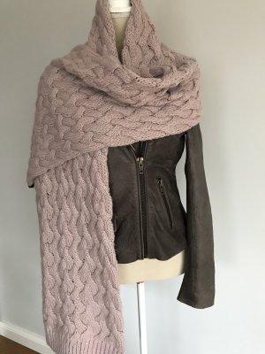 Codello Gebreide sjaal stoffig roze Gemengd weefsel